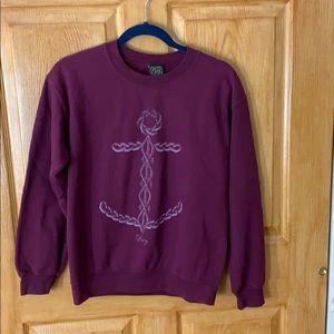 OBEY - Burgundy Anchor Sweatshirt